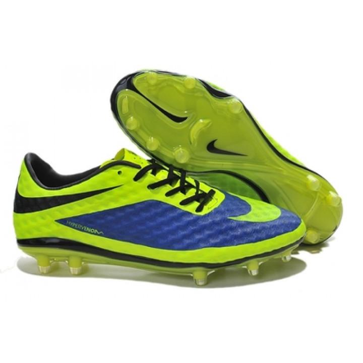 Футбольная обувь Nike ACG Hyper Venom салатовые с синим